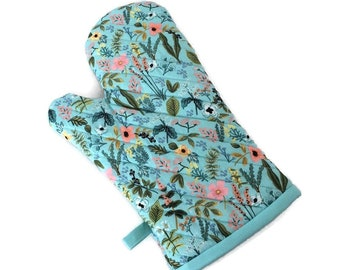 Oven Mitt - Floral Oven Mitt - Oven Glove - Wildflowers Oven Glove