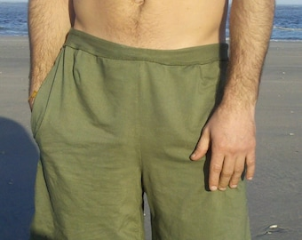 Surya Leela Men's Hemp/Organic Cotton Drawstring Shorts with Pockets