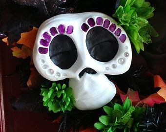 Dia Day Los muertos skull decoration inspired by Coco