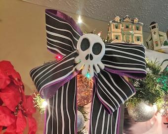 Haunted Mansion Mini Skull and Bow Set