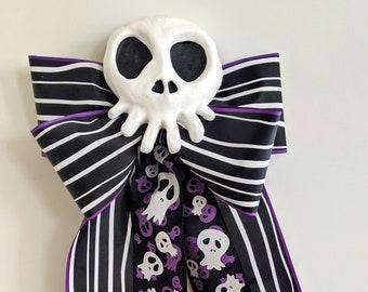 Haunted Mansion Holiday Bow and Skull Set