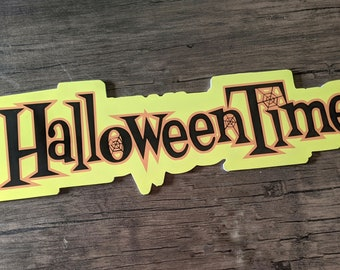 Halloween Time Sign *Main Street USA* *Disneyland* *Magic Kingdom*