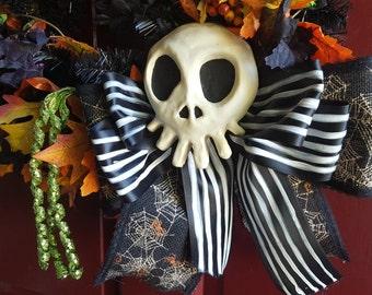 Haunted Mansion Holiday Skull Decoration *Nightmare Before Christmas Skull* *Whimsy Bear Design* *WhimsyBear*