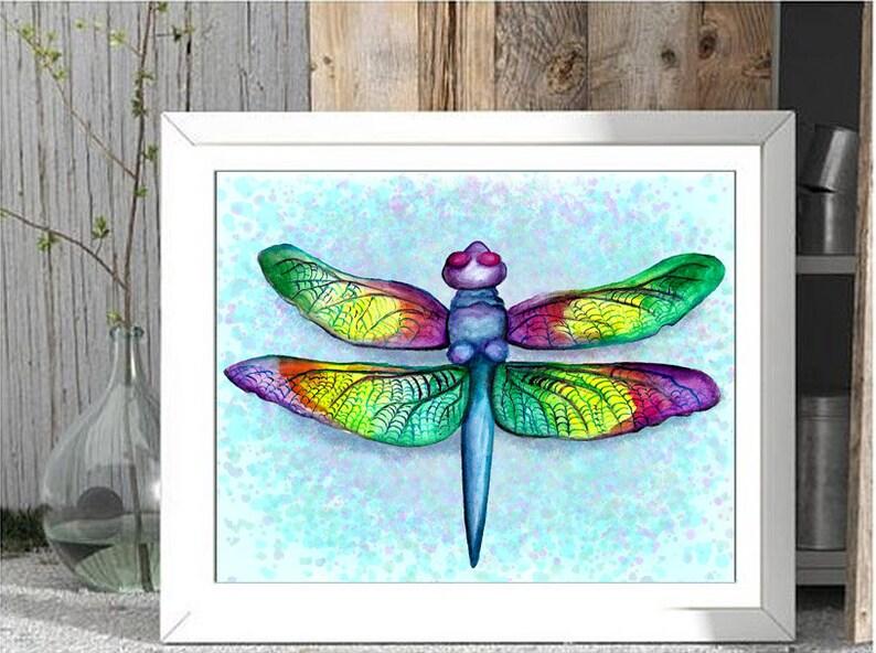 Mardi Gras Dragonfly Print