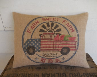 Windmill Farm Sweet Farm Pillow