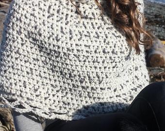 CROCHET PATTERN: 'Capelet & Boot Cuffs', Crochet Poncho