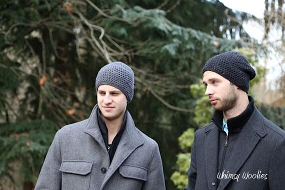 Men s Crochet Hat Pattern  Slouchy Beanie Men s  f4a3a11d19f