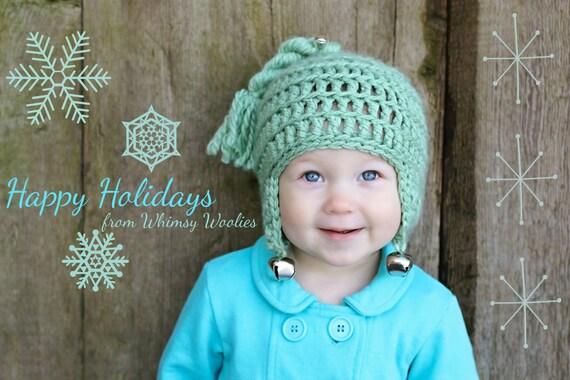 Christmas Crochet Hat Pattern Jingle Bell Rock Etsy