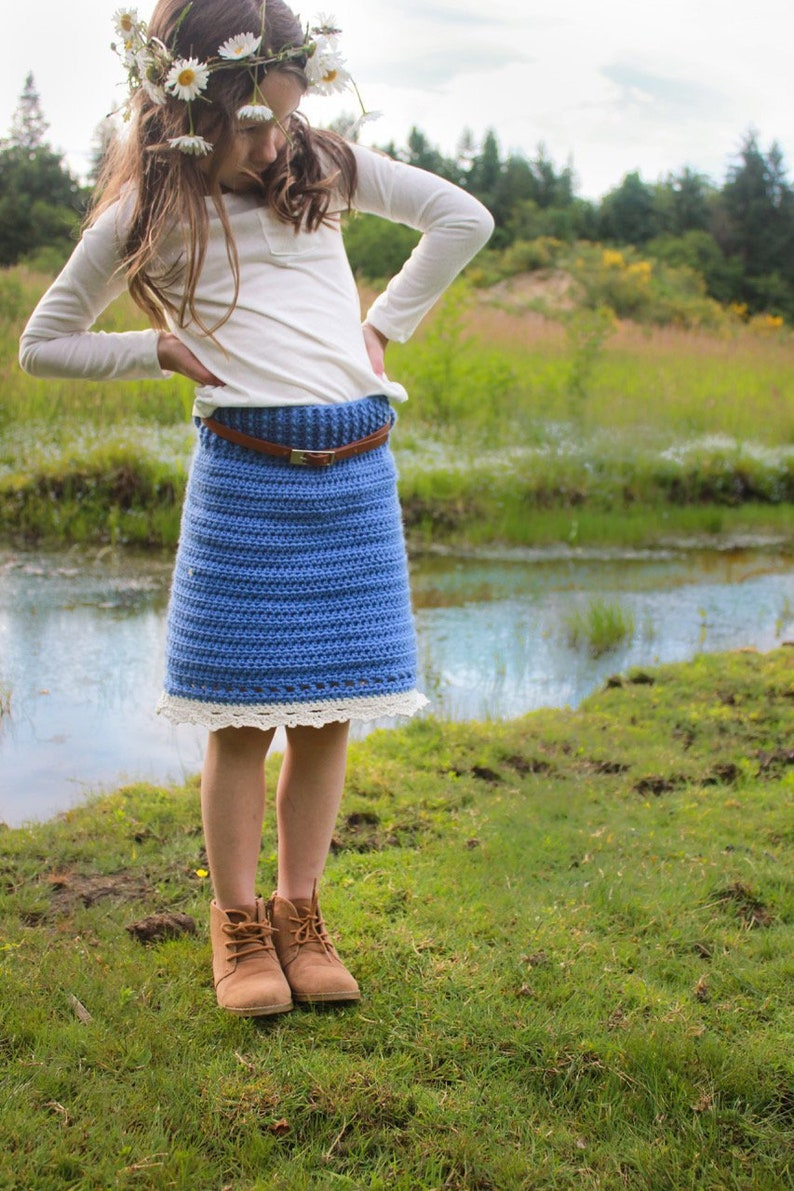 Crochet Skirt Pattern: Girl's Skirt Sizing to fit ages image 0