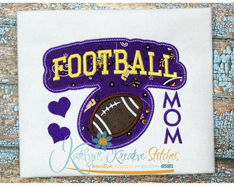 Football Mom - Block Arc Applique