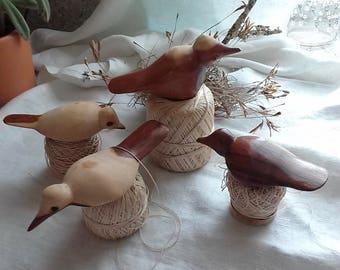 Hand Made Carved Wooden Birds, Vintage Wooden Birds, Vintage Hand Carved Wood Birds, Shore Birds, Gardening, Crafts,