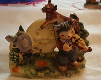 Lefton Hey Diddle Diddle The Cat and the Fiddle Figurine