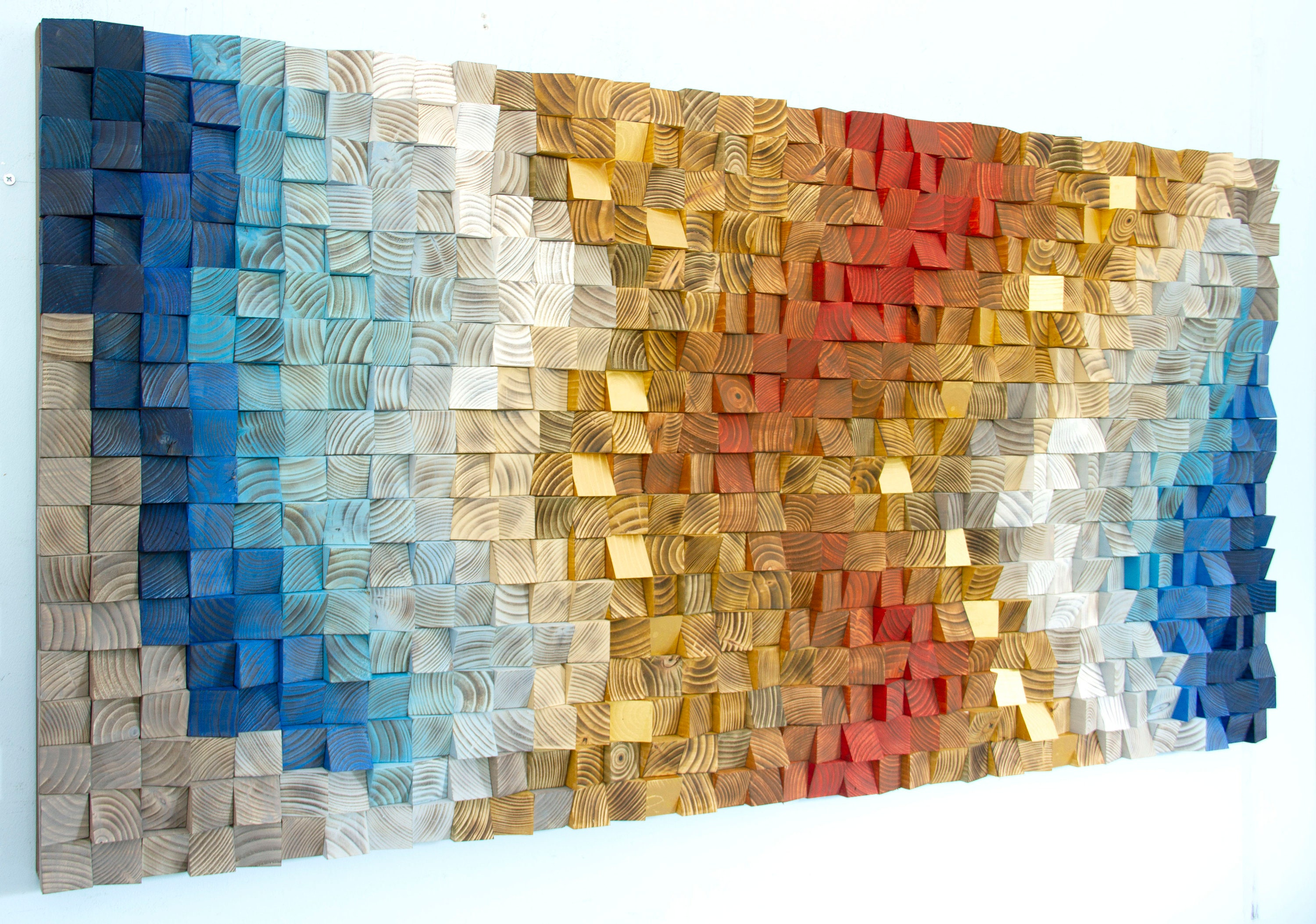 Wooden Wall Art 3d Wooden Wall Decor Reclaimed Wood Art Sound