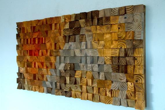 Rustic Wood wall Art wood wall sculpture abstract wood art | Etsy