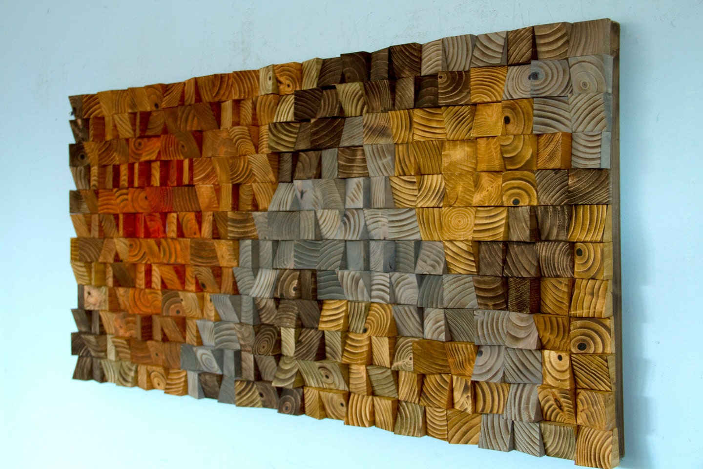 Rustic Wood Wall Art Abstract Wood Art Sculpture Reclaimed Wood