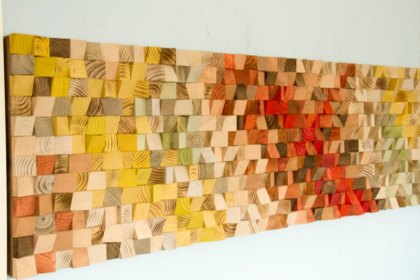 Reclaimed Wood Art, wood wall art industrial decor, Fire sparks