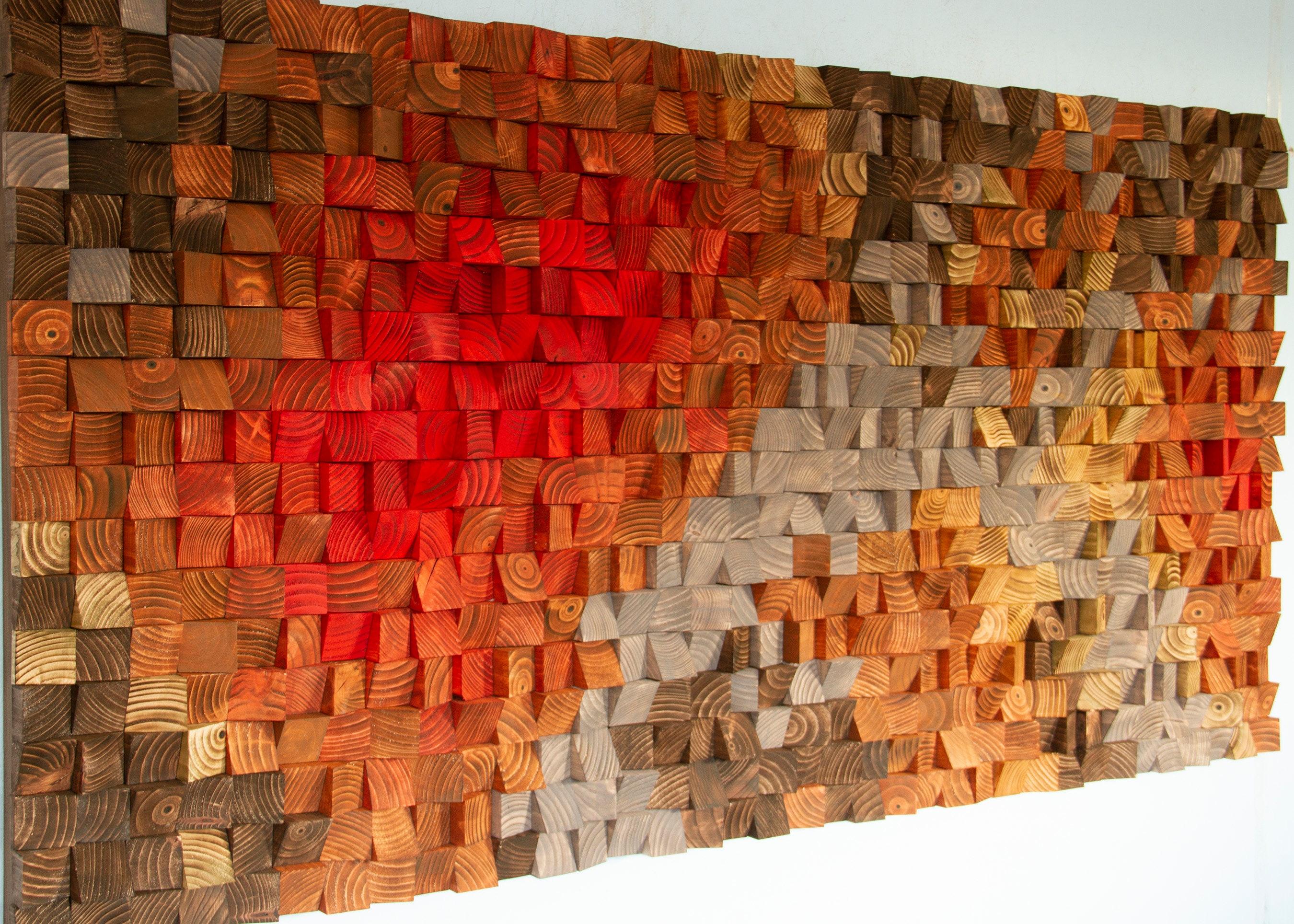 Rustic Wood Wall Art Reclaimed Wood Art 3d Wall Art Decor Factory