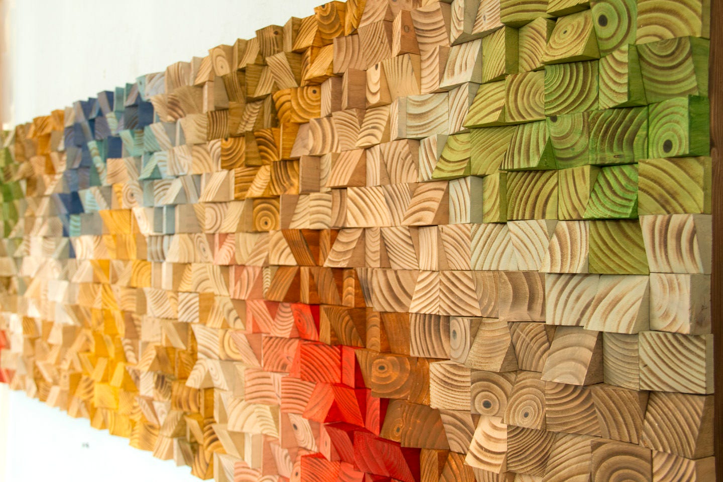 Wood Wall Art, reclaimed wood, autumn colours, 2018 colour trends ...