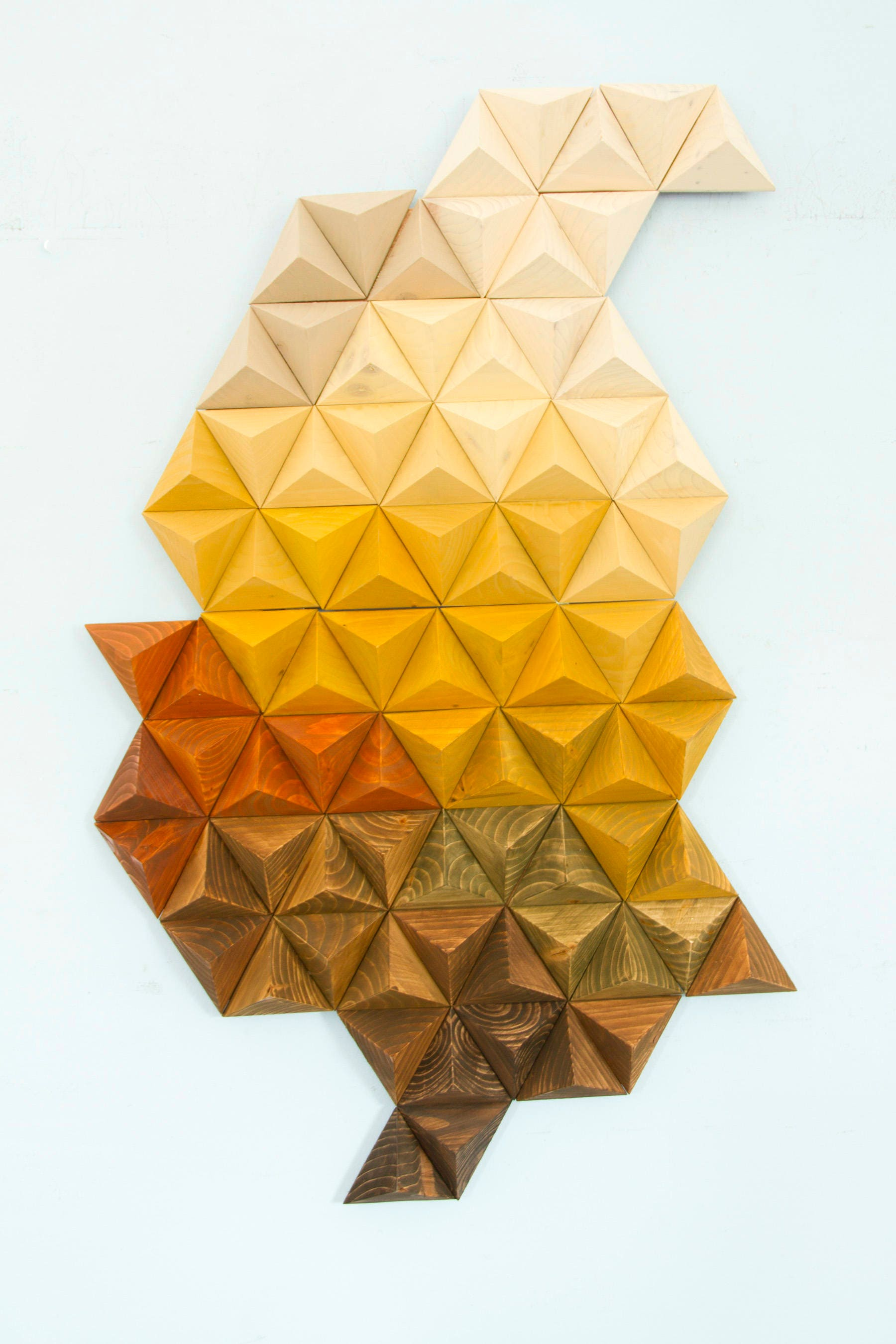 Wood sculpture wall art, geometric wood art, unique wood art by ...