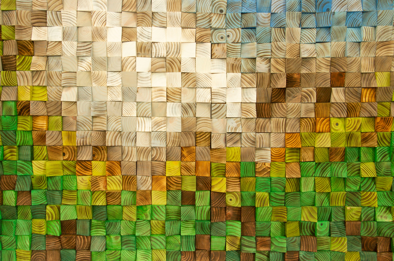 Wood Wall Art, Landscape Painting, 3D Wood Wall Art, Reclaimed Wood ...