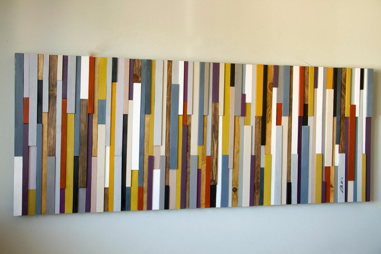Reclaimed Wood Art Wood Wall Art Sculpture Painted Wood Art Pieces