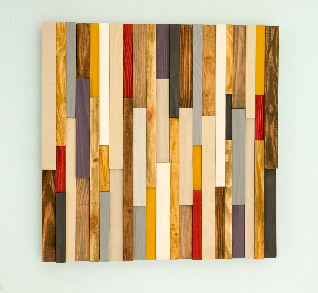 Wood Wall Art, reclaimed wood decor, 8D, Black Friday 8 x 8