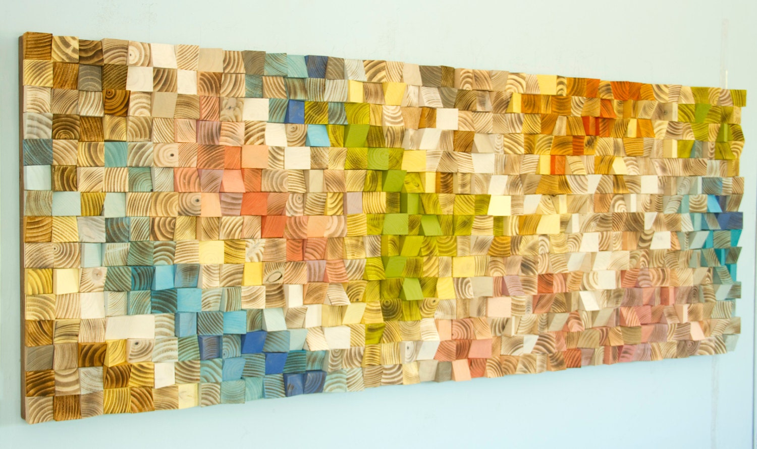 Large Wood Art, wood wall art, mosaic, modern wood sculpture, wooden ...
