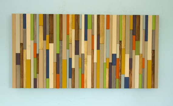 Wood Wall Art Modern wood art reclaimed 3D wood sculpture