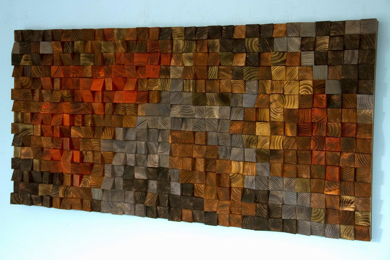 Rustic Wood Wall Art Reclaimed Wood Wall Sculpture Wooden Wall