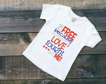 4d716a1b Kids patriotic shirt | Etsy
