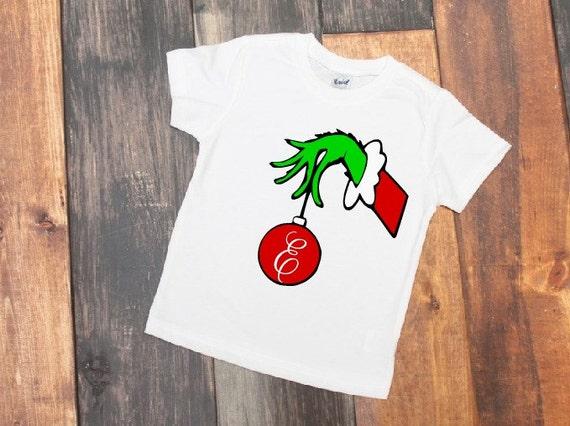 personalized christmas shirt grinch christmas kids | Etsy