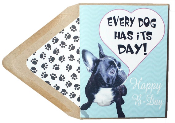 Every Dog Has Its Day Birthday Card Thinking Of You Funny Etsy
