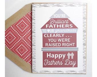 Raised Well - Fathers Day, Gay Families, Gay Dad, Gay Children, Gay Families, Lgbt, Boy Met Boy, Gay, Same Love Card