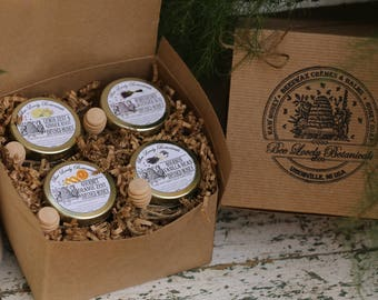 Infused Honey Gift Set, Tea Party Honey Set, Foodie gift, Thanksgiving Gift House Warming gift, Christmas Gift, Lavender Honey, Hostess gift