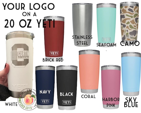 Yeti Authentic 20 Oz Tumbler In 10 Colors Laser Engraved
