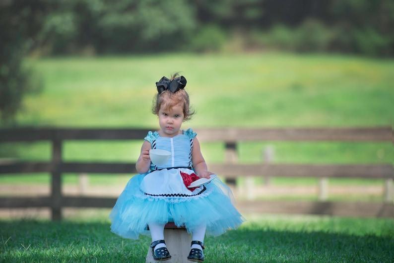 31e2ad779f2 Alice Dress...Wonderland Inspired Dress..Custom