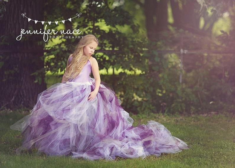 01b879170fa Pixie tutu dress with train..Plum Lavender Purple and