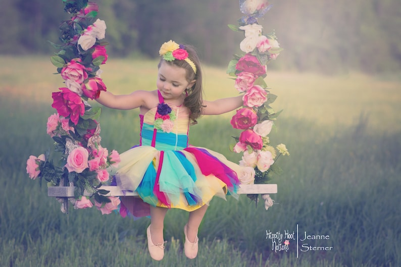 parties weddings or any Special Event ..Perfect for Photos Enchanted Ella Dress- Over the Rainbow .