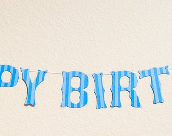 Happy Birthday Banner (Custom Colors Available)