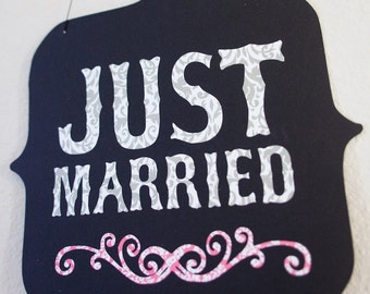 Just Married Sign Wedding Photo Booth Prop