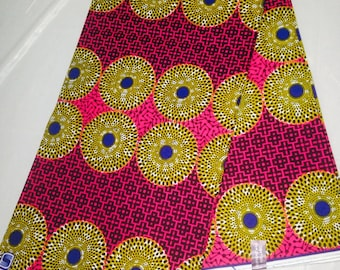 African Fabric/Supreme Wax/African Clothing/Fabric/ Ankara/Sewing/ African Fabric Sold by yard
