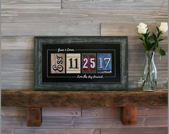 Wedding Gift, Personalized Wedding Gift, Newlywed Gift, Anniversary Gift, Rustic Wedding Gift, Gift for bride, Bridal Shower Gift
