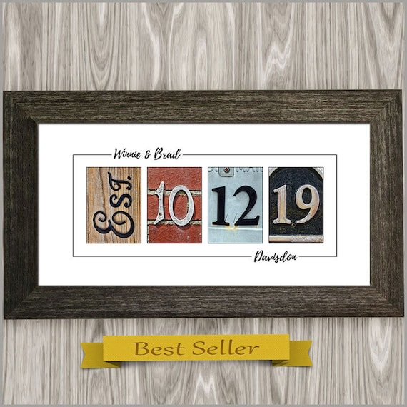 Personalized Wedding Gift For Couples Anniversary Gift Etsy