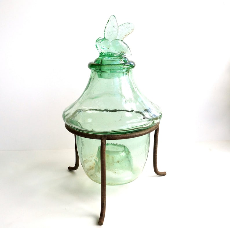 Vintage / Antique Wasp Bee Catcher / Fly Trap In Green