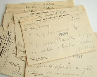 Vintage / Antique Handwritten Medical Prescriptions from 1896 (Set of 19), No.3 - Paper ephemera, collectibles, decor