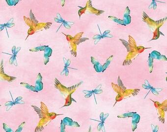 Hummingbirds Fabric New By The Fat Quarter BTFQ