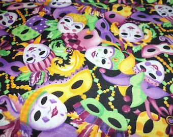 Mardi Gras Fabric Ready For The Celebration Colorful Fat Quarter New BTFQ