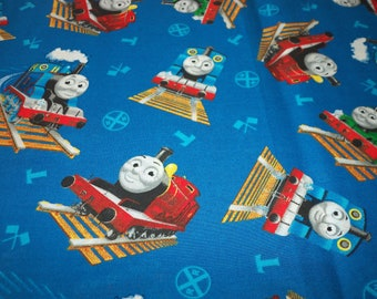 Thomas The Train Fabric Thomas & Friends Blue Background By The Fat Quarter New BTFQ
