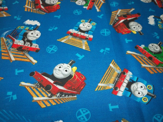 Thomas The Train Fabric Friends Blue Background By Fat Quarter New BTFQ From Majek150 On Etsy Studio