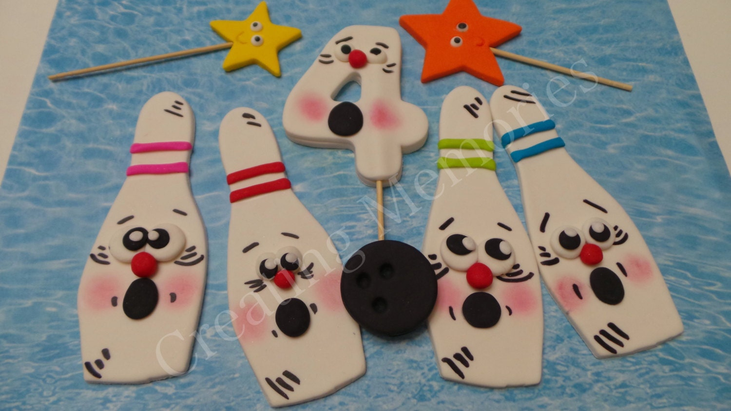 BOWLING PINS ready to use cake decorations. Make your ...